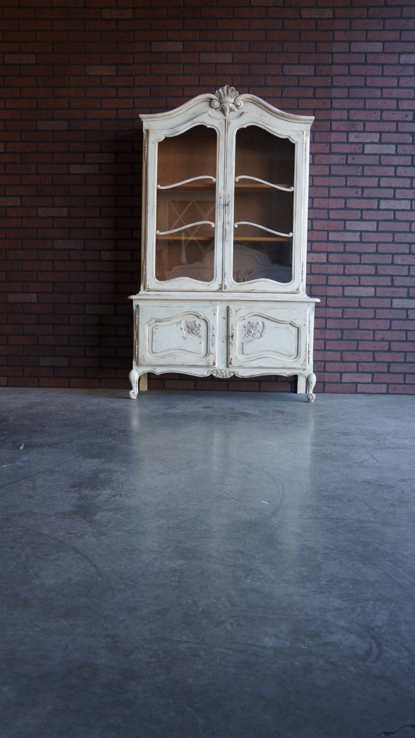 French Provincial China Cabinet French Hutch China