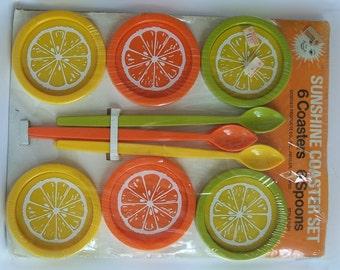 Vintage Sunshine Coaster set Unopened complete in original package