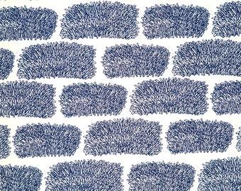 """Screen Print """"Grass"""" in Blue"""