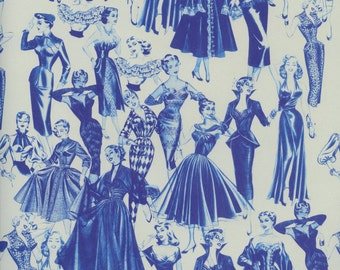 Fifties Fashion PAPER, 1950's Gift Wrap, Fifties Paper, 1950's Paper, Ladies Fashion Gift Wrap, Fifties Gift Wrap, Mid Century Paper