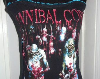 Cannibal Corpse band shirt ladies death metal heavy metal DIY halter top size many sizes available