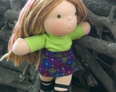 Waldorf Doll Dress - Turtleneck with Corduroy Skirt