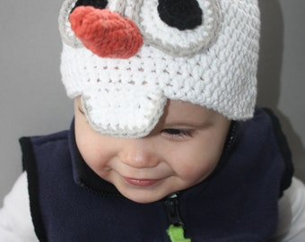 Frozens Olaf Snowman Hat EASY Crochet Pattern - Infant ...