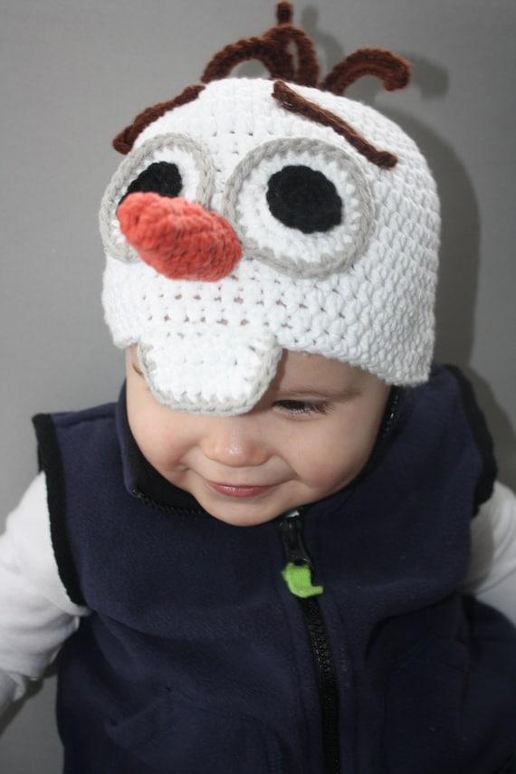 Frozens Olaf Snowman Hat EASY Crochet PDF Pattern