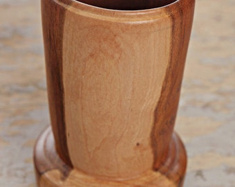 solid cherry vase - wood vase