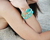 Turquoise summer bracelet