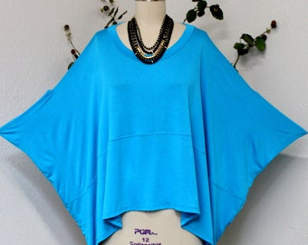 Oversized poncho type designer tunic top will fit Small to 3XL, Hip Hop, Bohemian,High Fashion