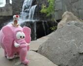 Needle Felted Toy - Pink Elephant - Felt Toys - India - Dream