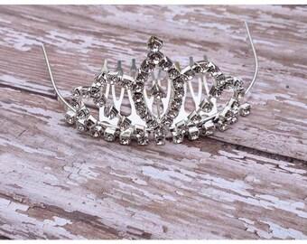 Tiara Headband | Tiara Hair Comb | Princess Tiara | Breakfast at Tiffany's Tiara | Silver Tiara Headband