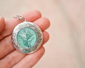 Tree Locket Necklace, Antique Locket, Mothers Day Jewelry, Mothers Day Locket, Boho Chic Locket