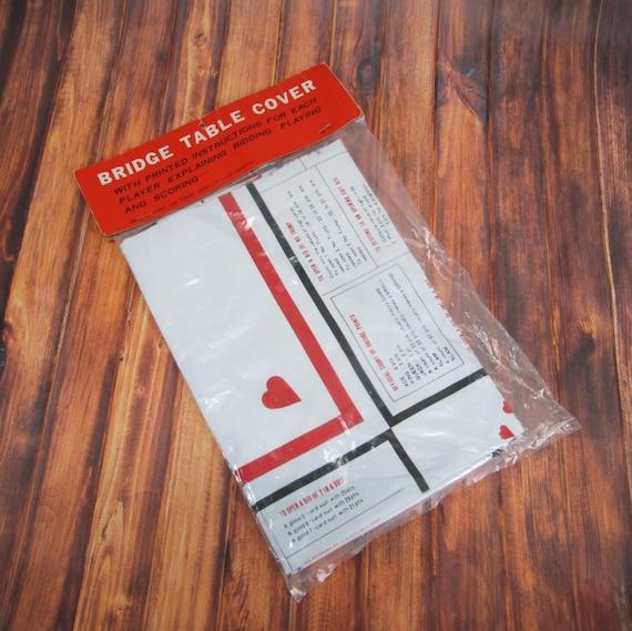 Bridge Card Table Cover Vinyl Tablecloth Unused Bidding