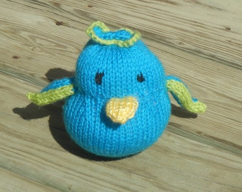 Knit chick etsy knit chick blue chick easter chick easter basket filler easter gift negle Gallery