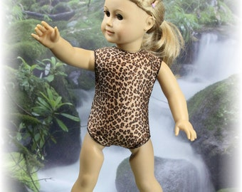 Leopard Print Leotard/Swim Suit for American Girl Doll
