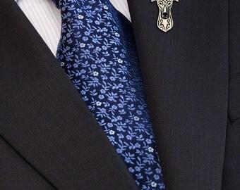 Greyhound brooch - sterling silver