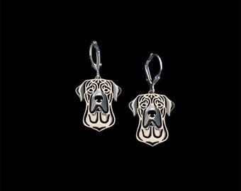 Tosa Inu earrings - sterling silver.