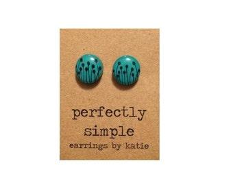 Dandelion Fields (hand drawn)  stud earrings