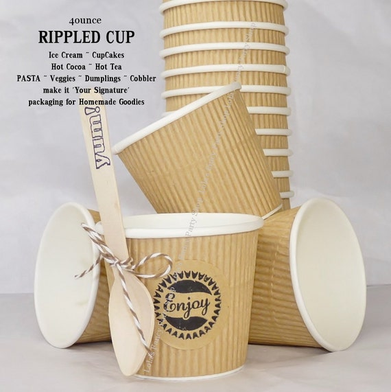 Items Similar To Rippled Paper Cups Lola's Natural Kraft