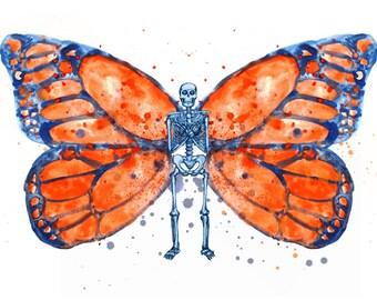 Skeleton Butterfly Fine Art Print