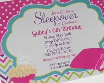 Sleepover Party Invitation Invite Printable