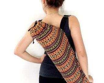 Handmade Yoga Mat Bag Yoga Bag Sports Bags Tote Yoga Sling bag Pilates Bag Pilates Mat Bag Woven Yoga Bag Women bag Woven Cotton bag (WF44)