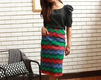 SALE WAS 25 - High Waisted Woolen Skirt