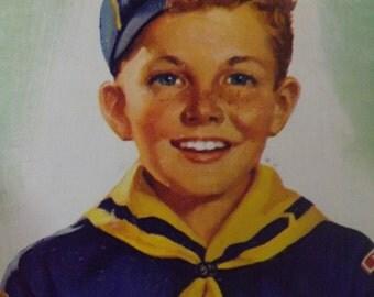 Very Rare Vintage Cub Scout Print