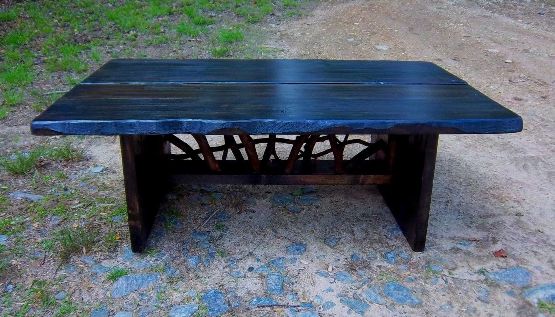 Rustic Modern Handmade Coffee Cocktail Table Log Cabin