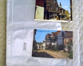 Page Protectors for Photos or Postcards, Clear Polypropylene, Holds 4 - 4x6 pictures
