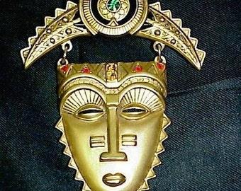 mayan gold mask