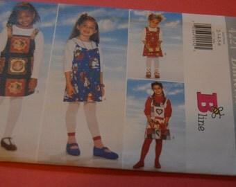 Butterick 4221 Girls Jumper Sewing Pattern - UNCUT Sizes 2 3 4 5 6