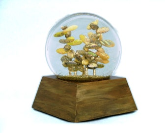 Citrus Sky glass bead snow globe sculpture