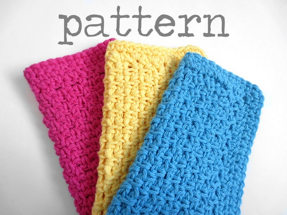 Crocheting Dishcloths For Beginners : ... Dishcloth with Decrease Single Crochet Tutorial Easy Beginner Kitchen