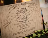 All Lit Up Invitation Suite; Nature; Recycled; Wedding; Barn; Rustic; Hand Lettered; Custom; Illustration; Outdoor; Woods; Natural
