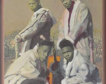 Painting of Boyz 2 Men