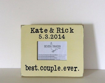 wedding frame, best couple ever, personalized wedding frame, wedding gift