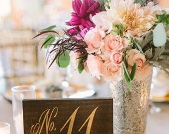 Elegant Rustic Table Numbers / Wooden Wedding Table Numbers / Wedding Decor / Table Decoration / Single table number - TB-9