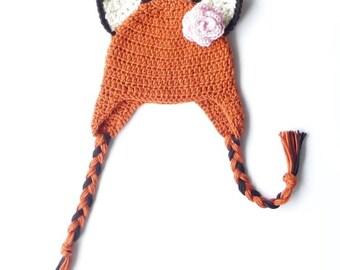 Cat Ears CROCHET PATTERN Crochet Earflap Hat Ear Flap Hat with