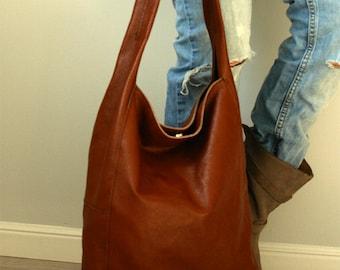 Brown Hobo Leather Hobo Bag
