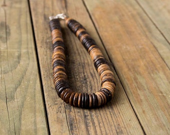 Dark Brown Coconut Shell necklace