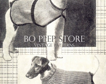 Knitting Pattern Westie Dog : Dog Coat Knitting Pattern for Westie Dog PDF