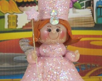 Glinda the Good Witch in Wizard of Oz OOAK fairy garden, ornament, cake topper, handmade miniature