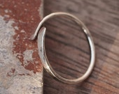 Silver ring, Sterling silver hammered forged ring, stacking ring, knuckle ring, handmade to your size, unisex jewelry by ARC Jewellery