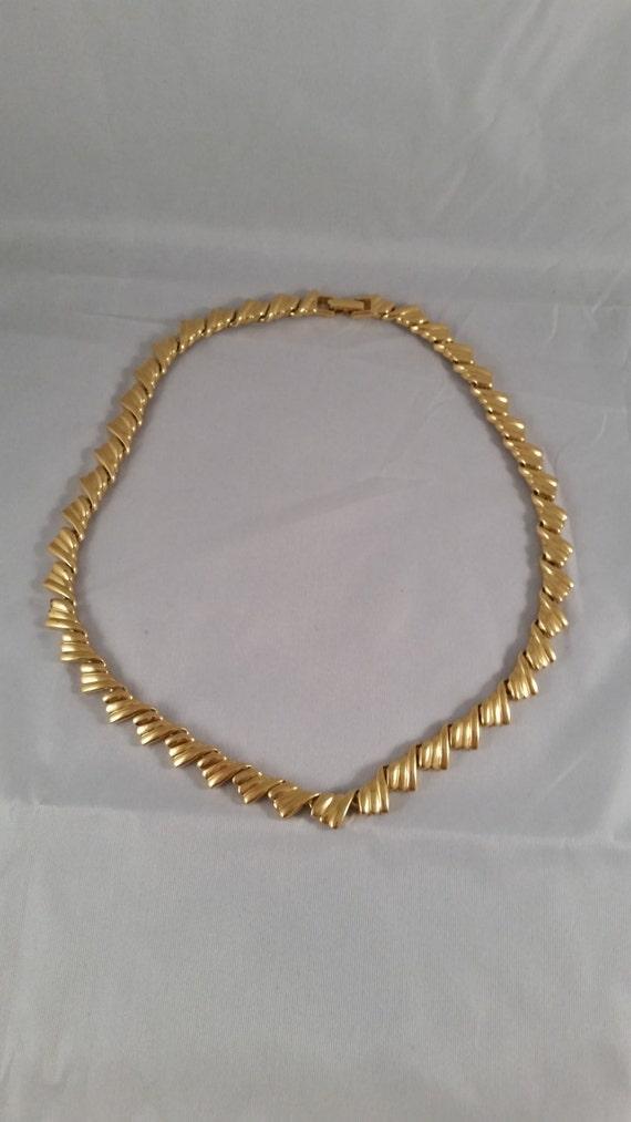 napier gold necklace vintage gold napier by vintagejewelryspot