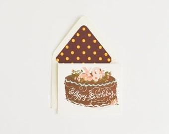 Happy Birthday Card with XO Cake