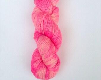 SALE Hand Dyed Sock Yarn, Knitting Yarn, Peruvian Highland Wool, 100g/440 yards
