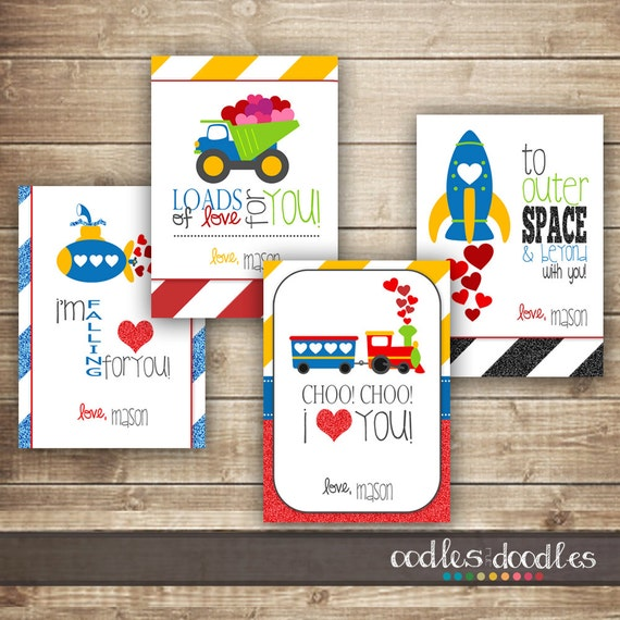 Boys Valentines Personalized Valentines Kids Valentines Day – Boy Valentines Day Cards