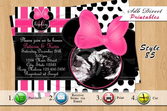 minnie mouse baby shower invitation minnie mouse baby shower, invitation samples