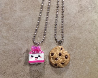 BFF necklace set- Cookies  and Milk
