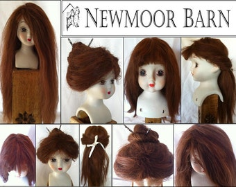 Hand Made Suri Alpaca Doll Wigs