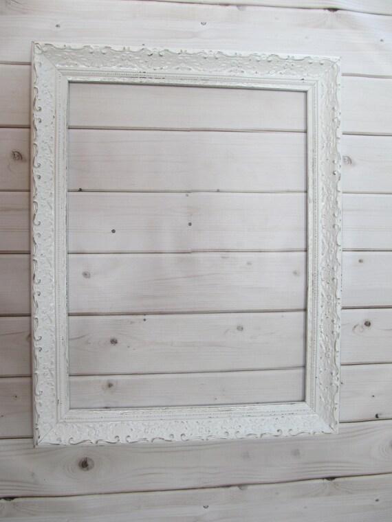 Large wood frame wedding frame vintage antique white baby - Large white picture frames ...